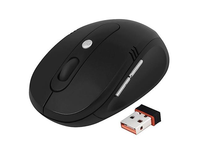 eForCity 2.4G Cordless Wireless Optical Mouse, Black Ver3