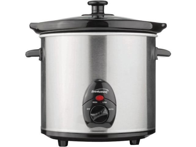 Brentwood SC-130S 3-Quart Slow Cooker (Stainless Steel Body)