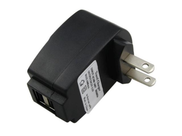 eForCity 1A 2 Port USB Travel Charger Adapter For Apple iPhone 6, Black