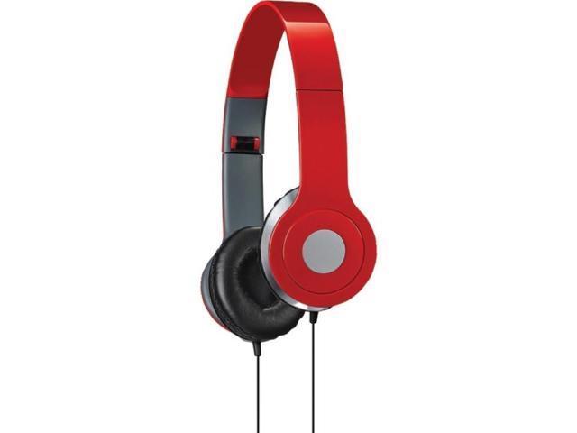 ILIVE iAH54R On-Ear Headphones (Red)