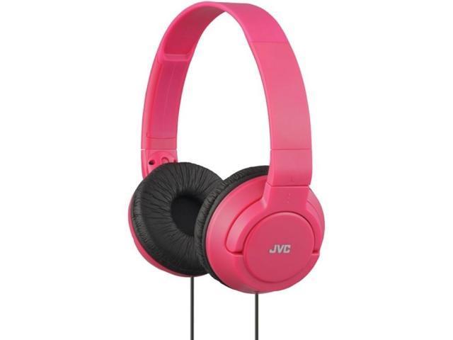 JVC HAS180-R-K Lightweight On-Ear Headphones (Red)