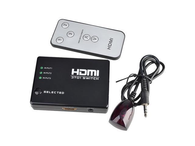 eForCity 3 Port HDMI Splitter for HDTV PS3 DVD + IR Remote