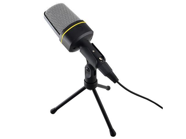 eForCity Desktop Notebook 3.5mm Studio Speech Microphone with stand, Black