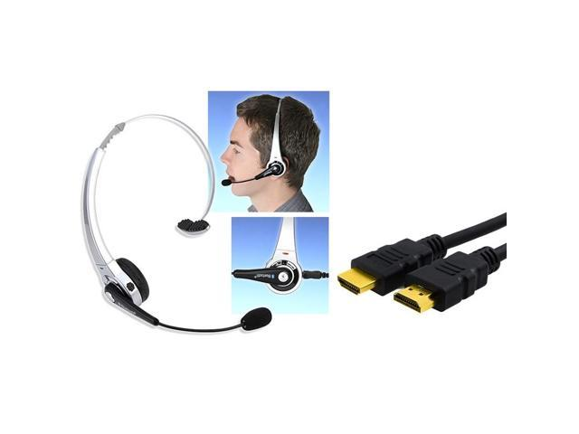 eForCity 6Ft 1.8m HDMI Cable 1.3 1080p + Wireless Bluetooth Headset For Sony PS3