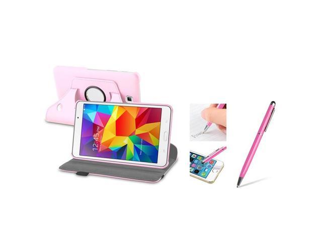 eForCity Pink Multi Angle Viewing Stand Case + Ballpoint Pen Stylus For Samsung Galaxy Tab 4 7.0 SM-T230 Tab4 7-Inch 7