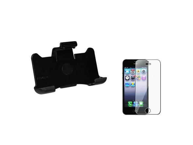 eForCity Black Defender Hard Case Holster Belt Clip Stand For Apple iPhone 5 5c 5s + LCD Shield Protector