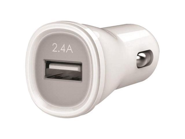 KANEX KCLA1PT24 2.4-Amp USB Car Charger (White)
