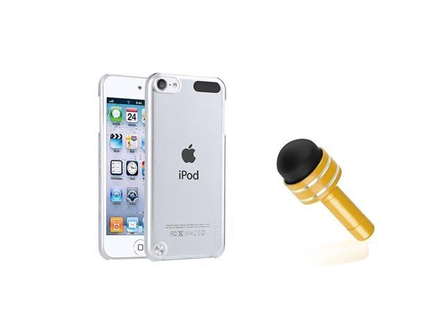 eForCity Clear Crystal Hard Case + Mini Dust Cap Stylus For iPod Touch 5 5th Gen5G