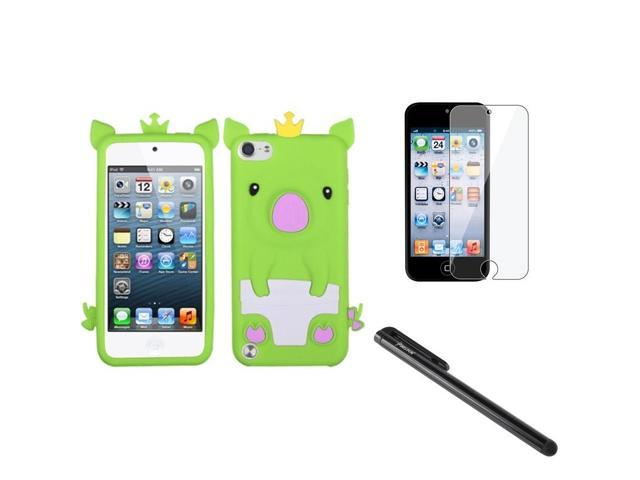 Apple iPod Touch 5th Gen/6th Gen Case, eForCity 3D Pig Rubber Silicone Soft Skin Gel Case Cover Compatible With Apple iPod Touch 5th Gen/6th Gen, ...