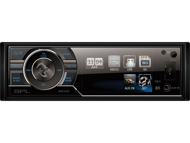SPL ADR-340T SINGLE DIN LCD MEDIA RECEIVER 3.4
