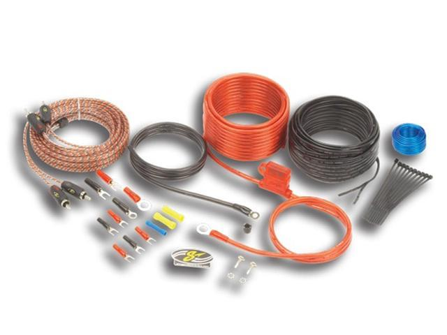 STINGER SK46101 CAR STEREO 4000 SERIES 10 GAUGE WIRE AMP INSTALL KIT RCA CABLES