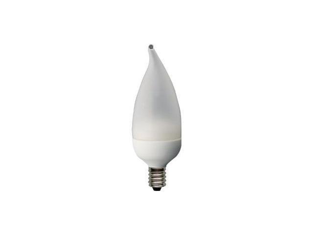 GE 76455 20W 120V Energy Smart Bent Tip Chandelabra Base White Decorative Bulb