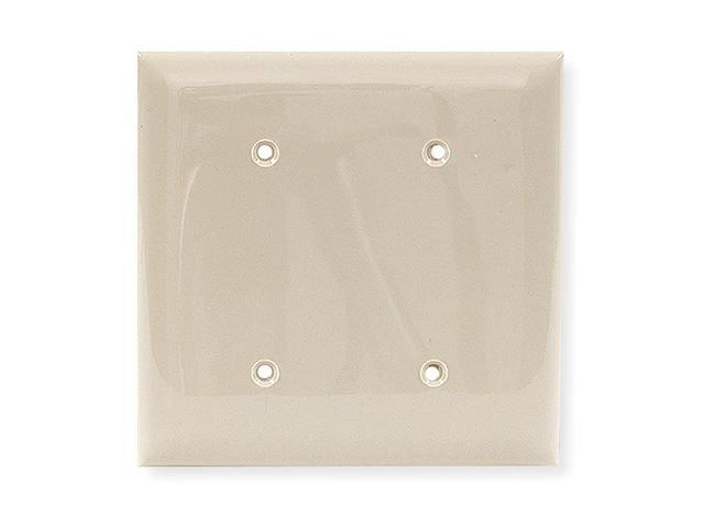 Wall Plate, Blank, 2Gang, Ivory NP24I