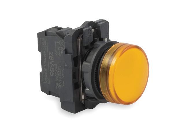 Pilot Light, LED, Yellow, 22mm, 24VAC/DC