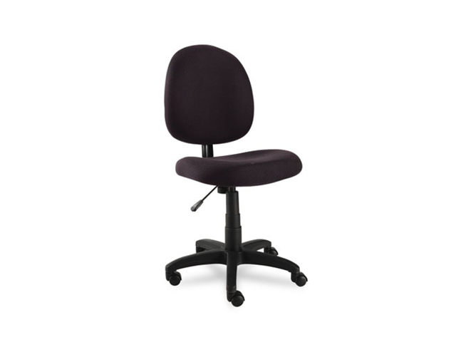 Essentia Series Swivel Task Chair, Acrylic, Black