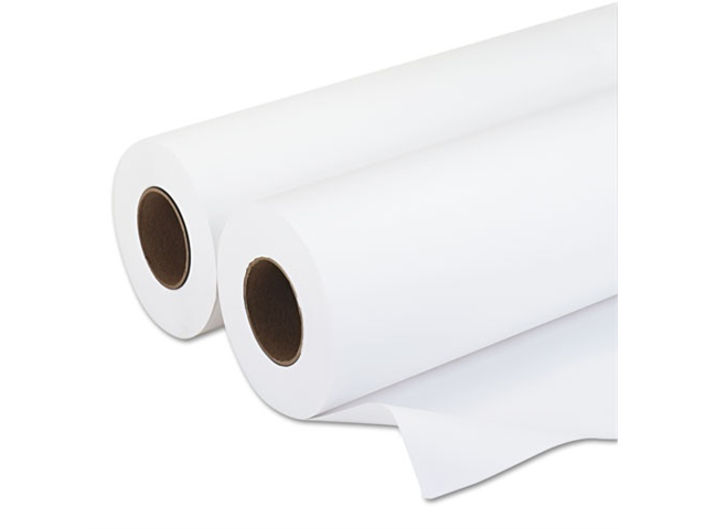 PM Company Amerigo Wide-Format Inkjet Paper, 20 lbs., 3 Core, 18x500 ft, White, 2/Carton