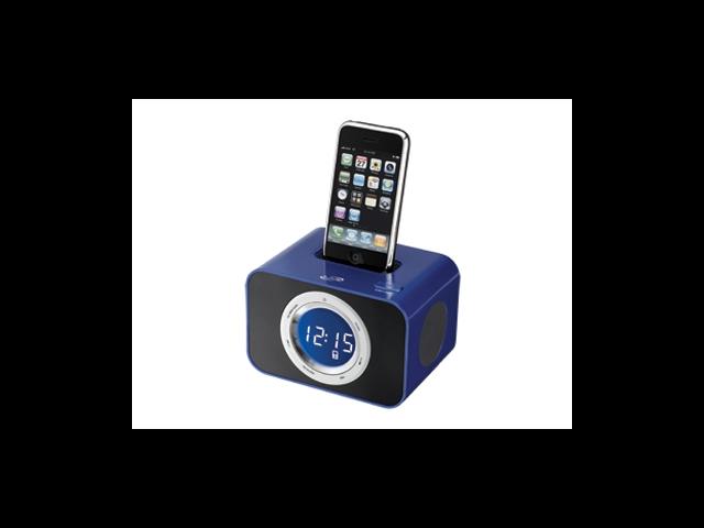 iLive ICP211BU Clock Radio for iPod and iPhone, With FM Radio