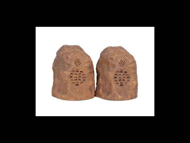 C2G 41309 Sandstone Wireless Rock Speaker Bundle (Rechargeable) with Dual Power Transmitter