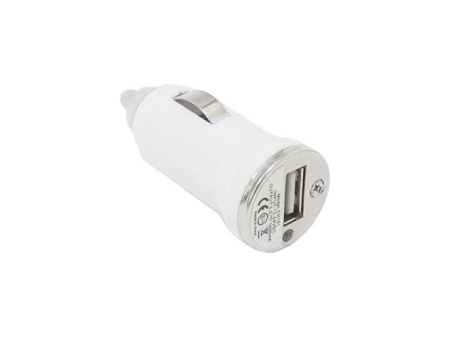4XEM 4XMINICHARGE White Universal Mini USB Car Charger Adapter