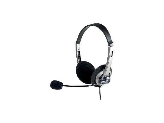 SYBA CL-AUD63074 3.5mm Connector Lightweight, Over the Head, On the Ear Stereo Headset with Boom Mic., and In-line Volume Control
