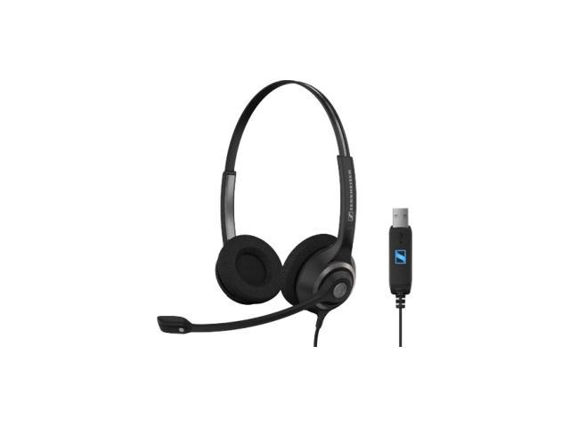 Sennheiser SC260 USB Wideband dual-sided professional communication headset with USB connector and noise cancelling mic