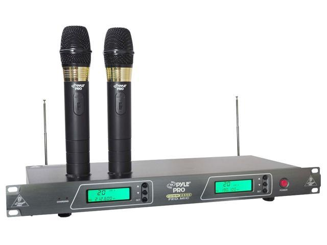 PylePro - PDWM2550 - 19'' Rack Mount Dual VHF Wireless Rechargeable Handheld Microphone System