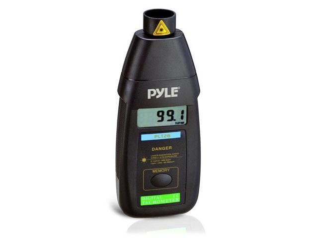 Professional Digital Non Contact Laser Tachometer W/ LCD Display, 99,999 RPM Range, And Carrying Case
