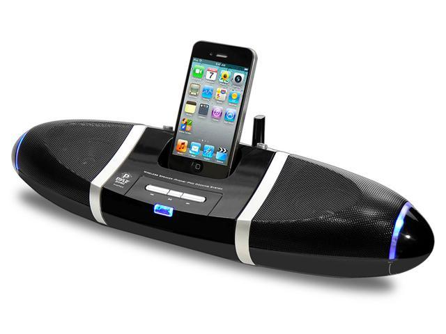 Pyle - iPod/iPhone Wireless Speakers Docking Station with Aux Input
