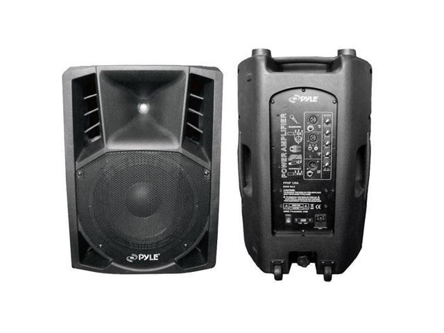 1000 Watts 12'' Powered 2 Way Plastic Molded PA Speaker With Wheels For easy Transport