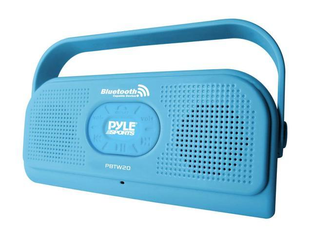 Pyle - Surf Sound 2-In-1 Waterproof Bluetooth Shower Speaker and Call Answering Microphone(Color Blue)