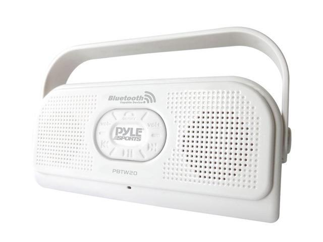Pyle - Surf Sound Party Waterproof Wireless Bluetooth Stereo Speaker with Microphone For Cell Phone Talking (Color White)