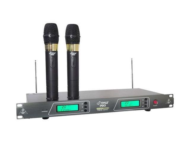 19'' Rack Mount Dual VHF Wireless Rechargeable Handheld Microphone System