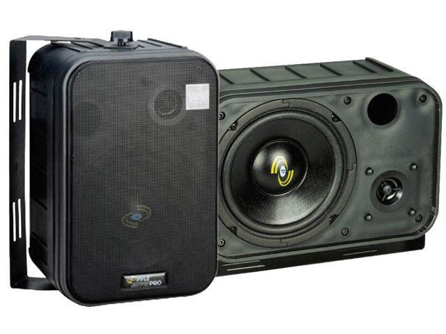 PyleHome - 6.5'' Two-Way Bass Reflex Mini-Monitor System & Bookshelf/wall mount Speakers