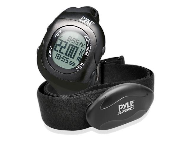 Pyle - Bluetooth Fitness Heart Rate Monitoring Watch with Wireless Data Transmission and Sensor (Black)