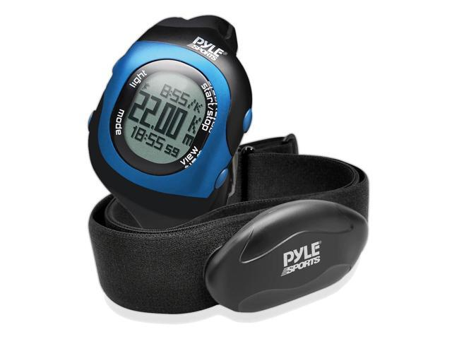 Pyle - Bluetooth Fitness Heart Rate Monitoring Watch with Wireless Data Transmission and Sensor (Blue)