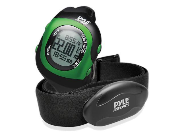 Pyle - Bluetooth Fitness Heart Rate Monitoring Watch with Wireless Data Transmission and Sensor (Green)