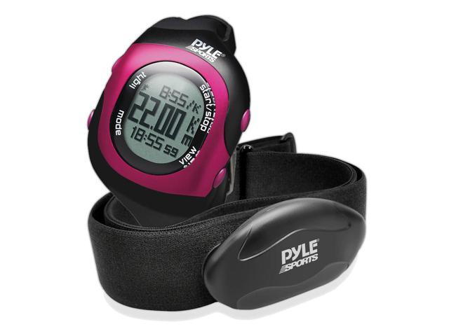 Pyle - Bluetooth Fitness Heart Rate Monitoring Watch with Wireless Data Transmission and Sensor (Pink)