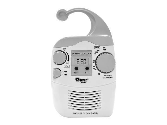 PyleHome - Hanging Waterproof AM/FM Shower Clock Radio