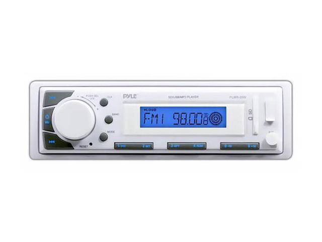 Marine In-Dash Receiver with AM/FM Radio, AUX Input for iPod/MP3 Players & SD/USB Flash Readers
