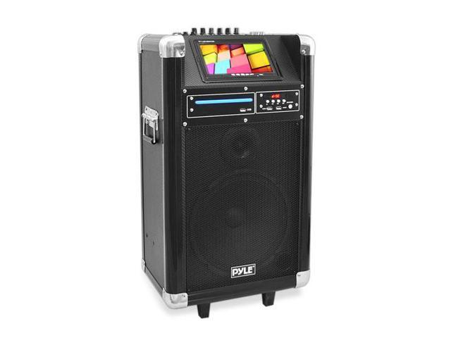 Karaoke Vibe Bluetooth Multimedia PA System with 10'' Woofer, 7'' Screen, DVD Player, VHF Wireless Microphone, 400 Watt