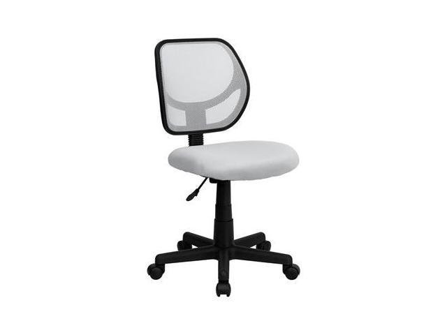 Flash Furniture Mid-Back White Mesh Task Chair and Computer Chair [WA-3074-WHT-GG]