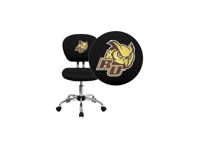 Flash Furniture Rowan University Owls Embroidered Black Mesh Task Chair with Chrome Base [H-2376-F-BK-41066-EMB-GG]