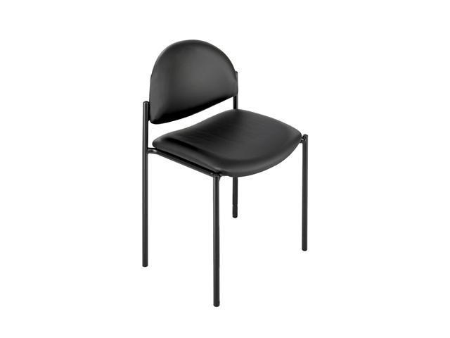 Safco 7021BL Wicket Stack Chair with Vinyl 19 3/4