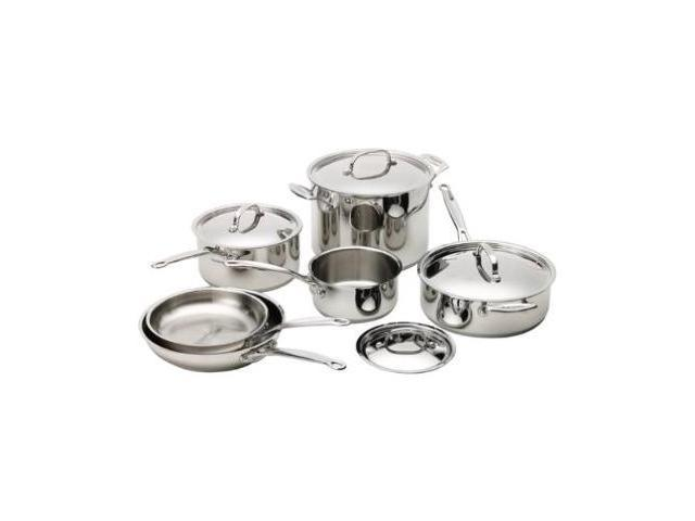 Cuisinart 77-10 Chef's Classic Stainless-Steel 10-Piece Cookware Set N82E16896110058