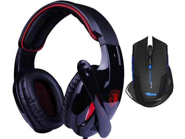 E-3lue E-blue Mazer 2500DPI USB 2.4GHz Wireless Optical Gaming Mouse+Bluedio R+Sades Over Ear Surround Sound PC Gaming Headset & Music Headset w/ Mic