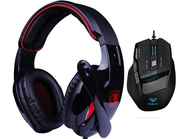 Professional USB Wired Optical 7D 7 Buttons 2000DPI Gaming Mouse Mice+Bluedio R+Sades Over Ear Surround Sound PC Gaming Headset & Music Headset ...