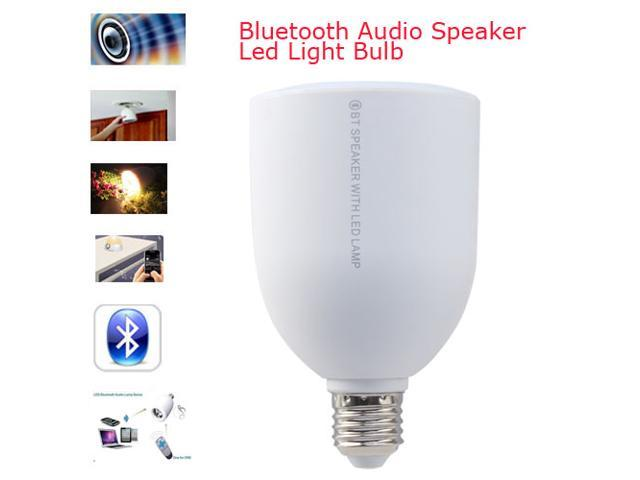2014 NEW LED Lamp Speaker E27 Adjustable Brightness Wireless Bluetooth Audio Speaker for iPhone 5s/4s,iPad,Samsung Galaxy s4 s3,Tablet PCs - White