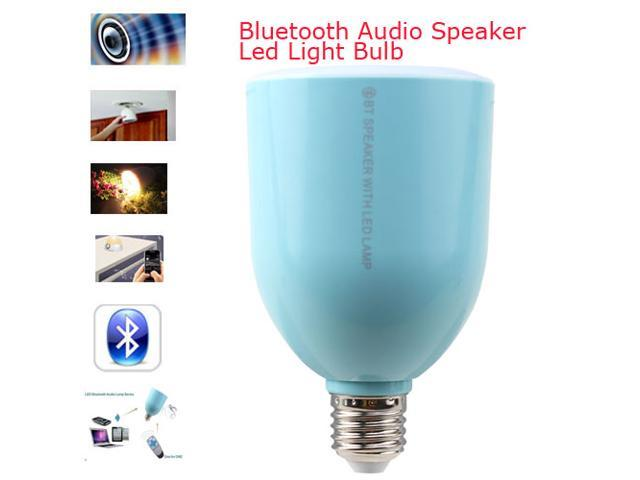 2014 NEW LED Lamp Speaker E27 Adjustable Brightness Wireless Bluetooth Audio Speaker for iPhone 5s/4s,iPad,Samsung Galaxy s4 s3,Tablet PCs - Blue