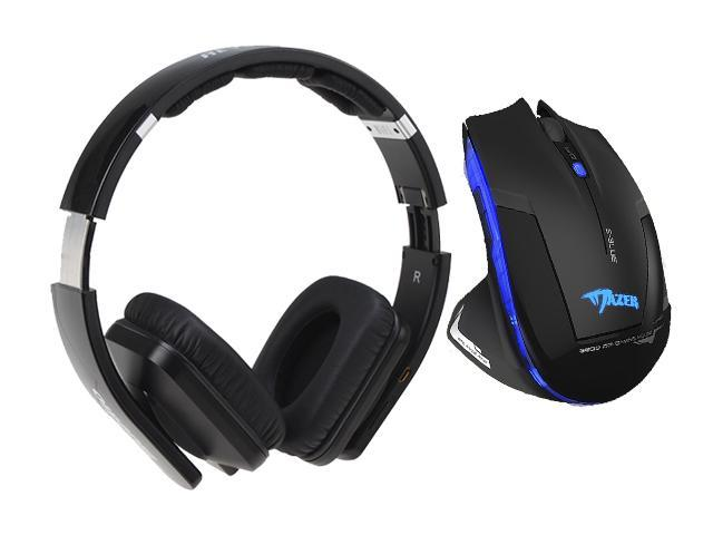 E-3lue E-blue Mazer 2500DPI USB 2.4GHz Wireless Optical Gaming Mouse+Bluedio USB Connector/ Bluetooth 4.0 Circumaural Wireless Folding Gaming Headset