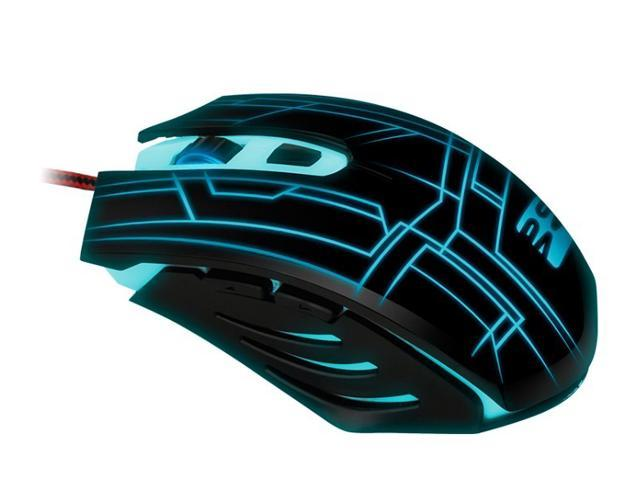 Blue Color LED Illuminated Backlit 800-1600DPI Game Ergonomics USB Wired PC Gaming Optical Mouse